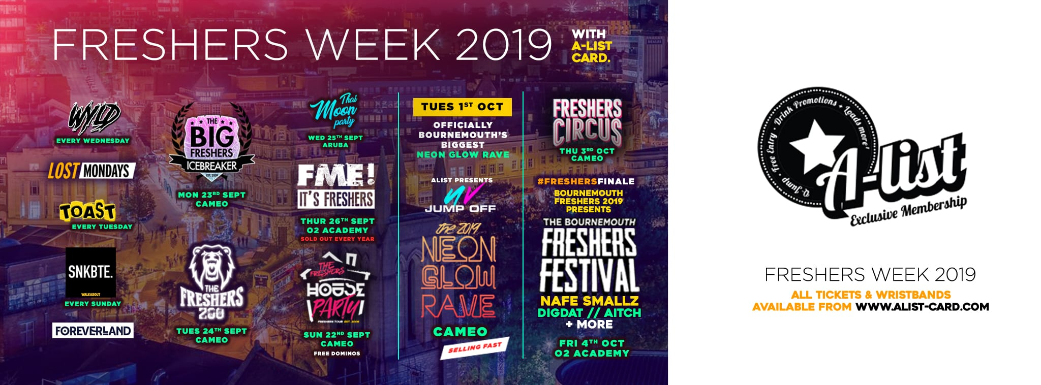 Freshers week with A-List