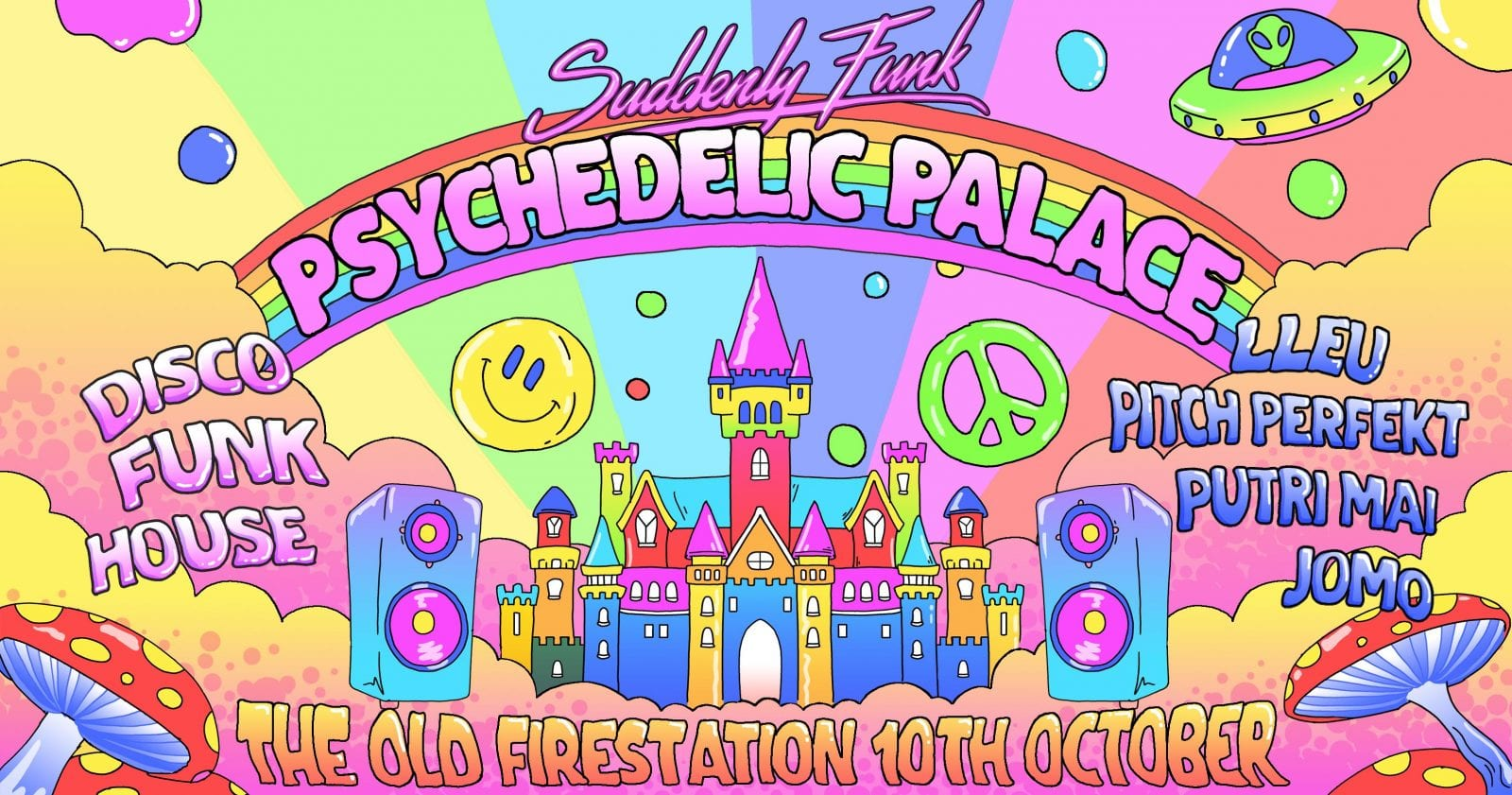 Suddenly Funk: Psychedelic Palace: Thursday 10th October: A-List Ticket