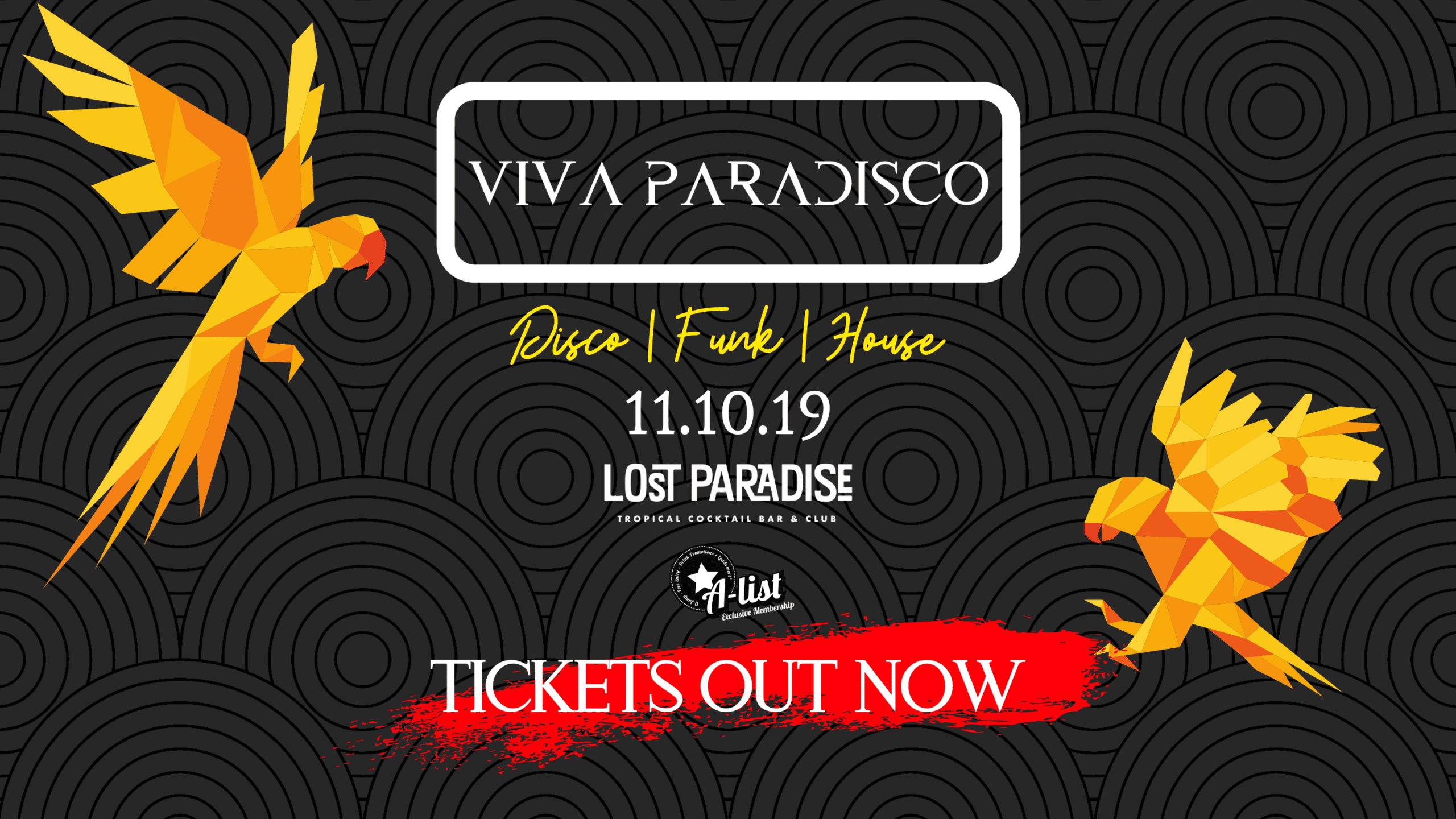 Viva Paradisco: Friday 11th October