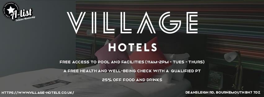 VILLAGE HOTEL – FREE SWIMMING